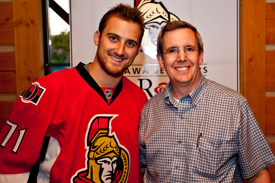 Nick Foligno and Jean Labelle