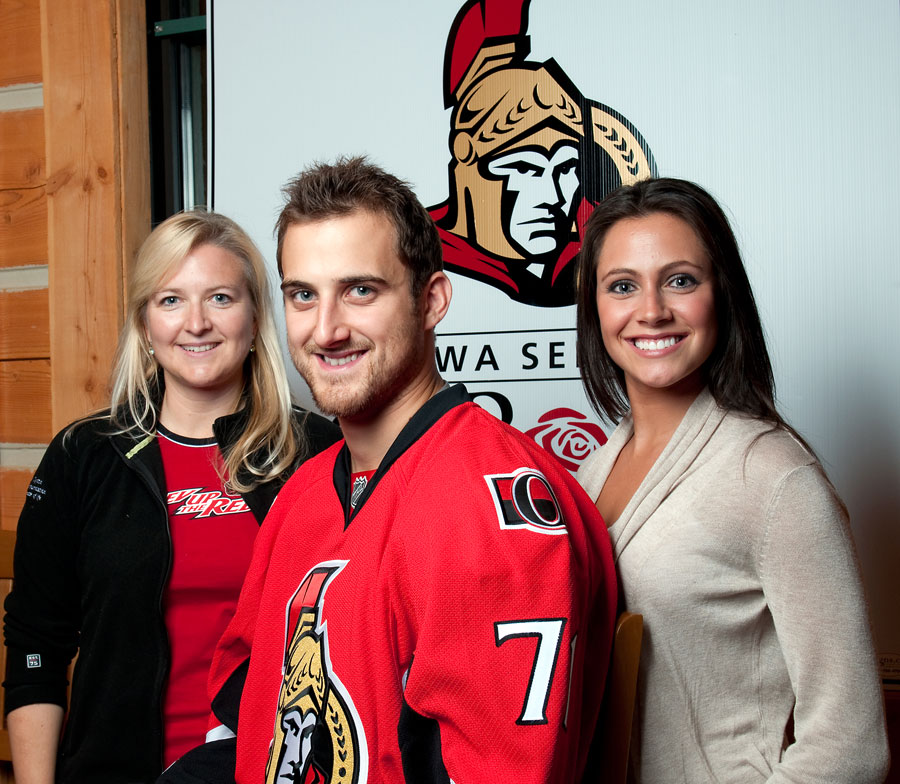 Nick Foligno, Janelle Forest and Nadine Imbleau-Redman