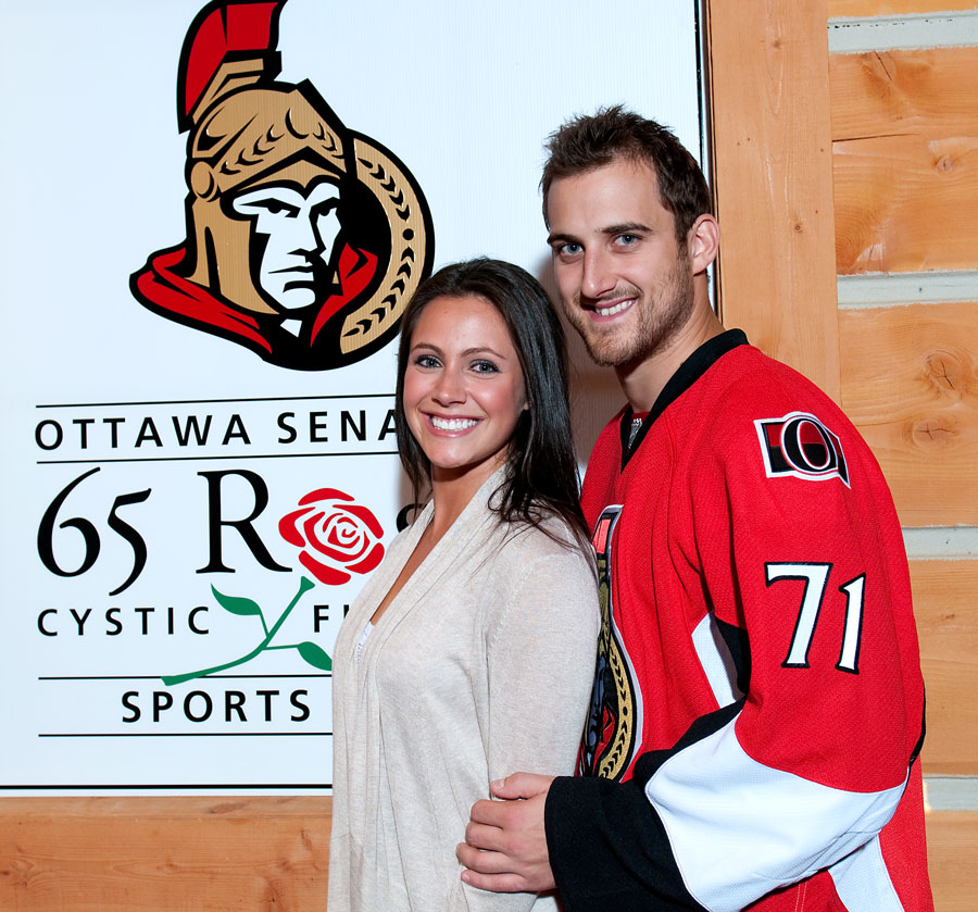 Nick Foligno and Janelle Forest