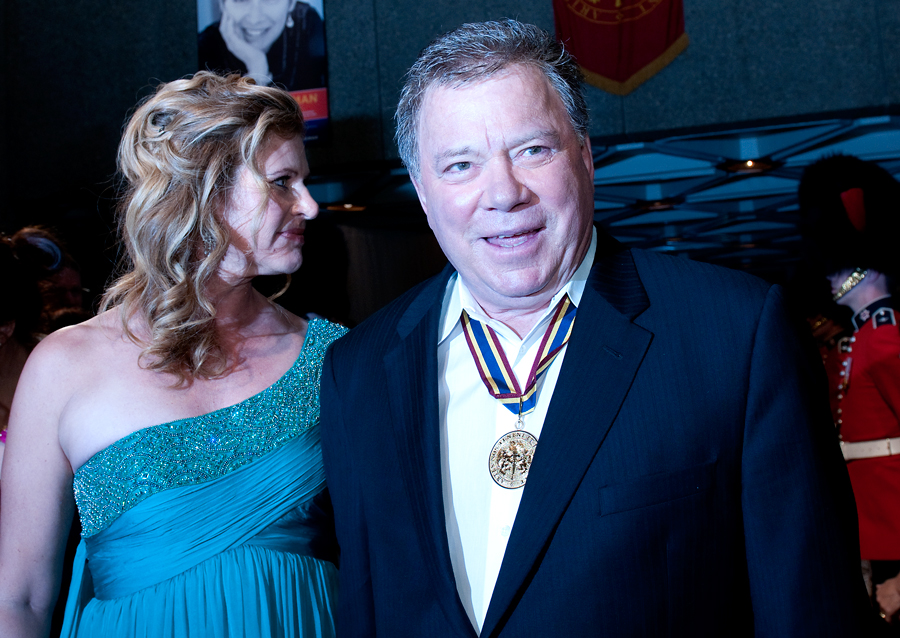 William Shatner and his wife Elizabeth Martin