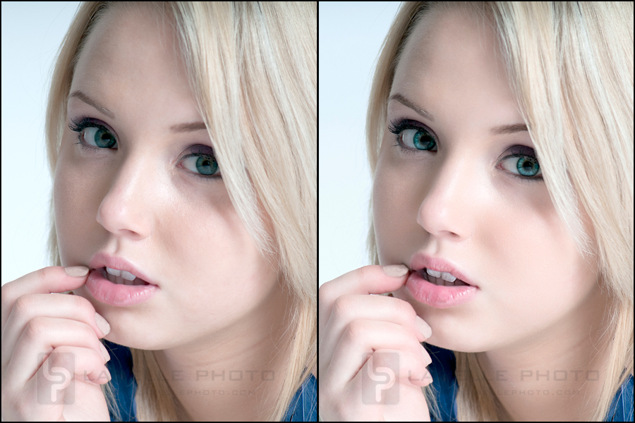 Subtle retouching example.